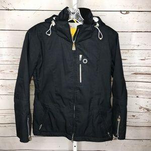 Obermeyer lace up back ski jacket 4